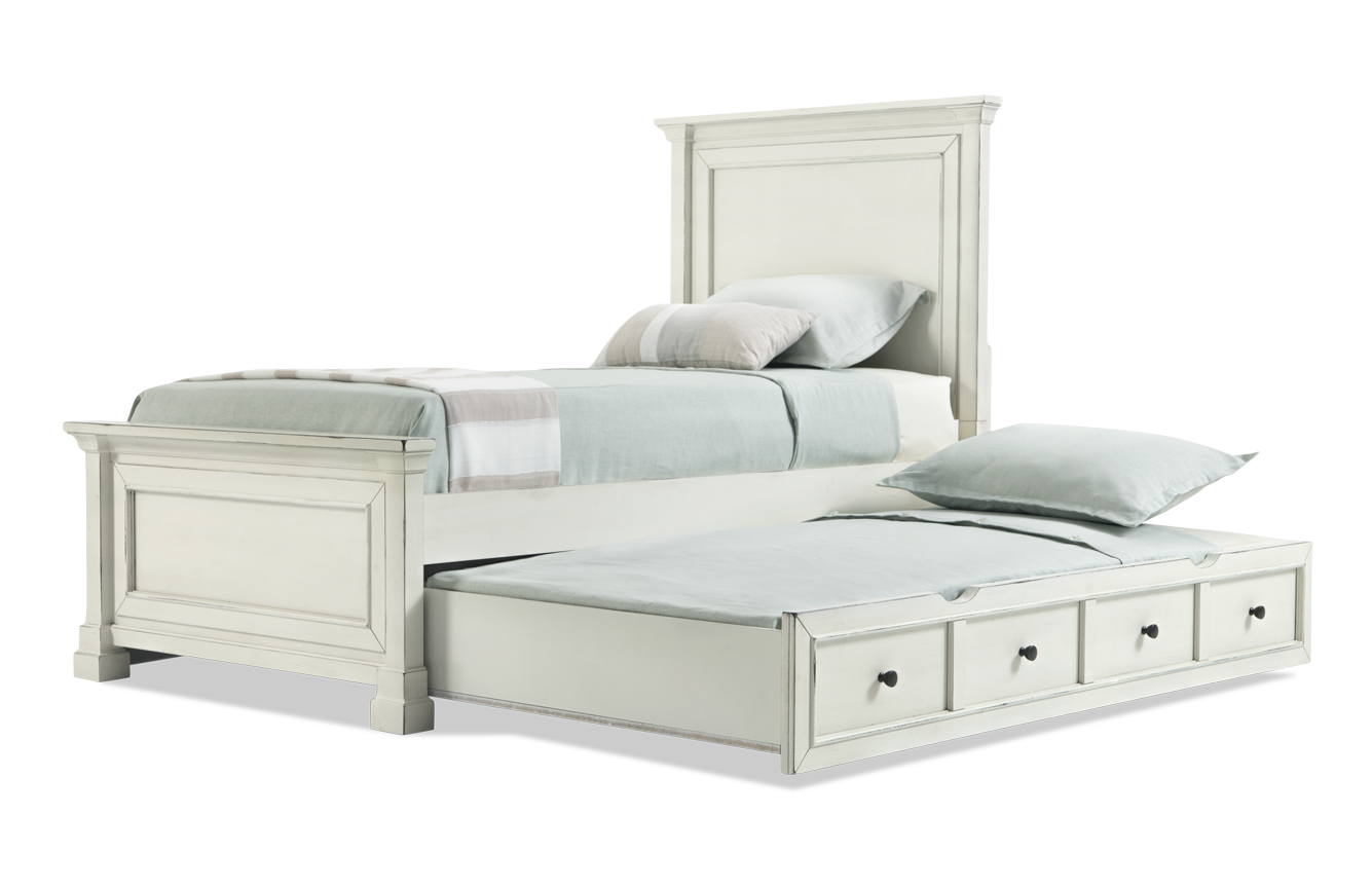 Julia Youth Panel Bed With Trundle Bedroom headboard