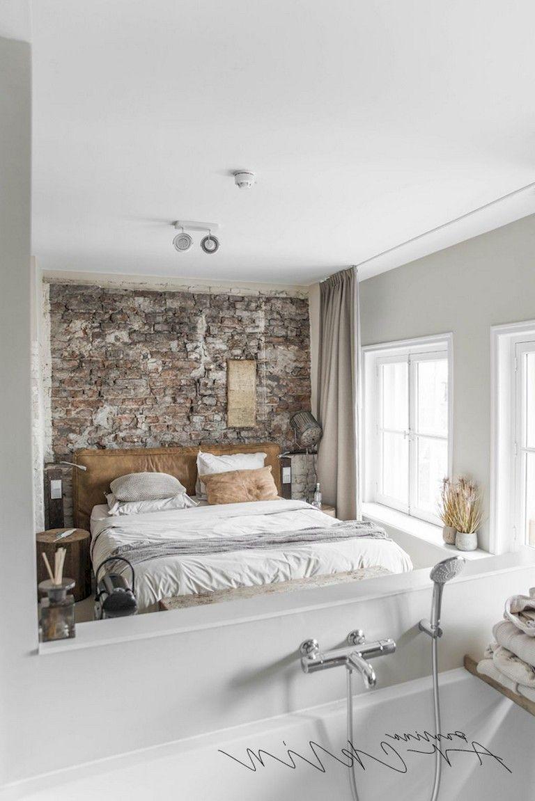 36 Comfy Master Bedroom Brick Wall Decoration Ideas