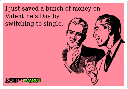 Single On Valentines Day Quotes New I Just Saved A Bunch Of Money On Valentine's Day  Funny