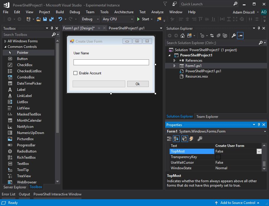 PowerShell Pro Tools for Visual Studio 2017-2019 v4 2 2