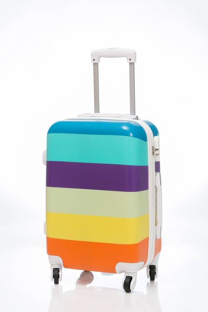 c76edf977 Maleta Arco Iris tamaño grande, es una maleta de viaje dura de 4 ruedas de  goma silenciosa, con diseño muy moderno, envío gratis en un día
