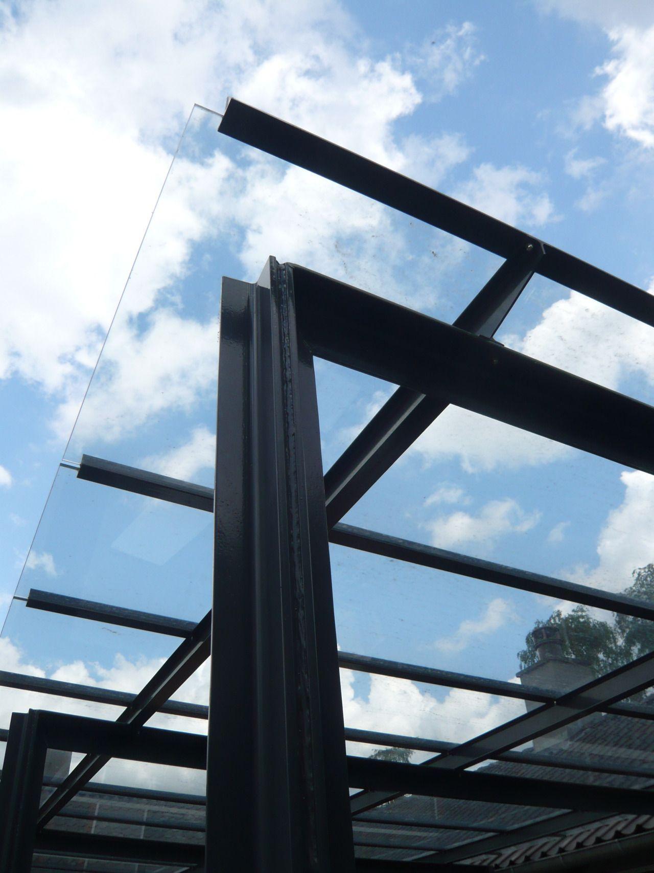 Charlottenlund - Mosehøjvej glastag - overdækning af terrasse.