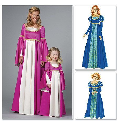 Renaissance historical costume dress - McCallu0027s sewing pattern - Adult or child  sc 1 st  Pinterest & Renaissance historical costume dress - McCallu0027s sewing pattern ...