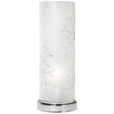 Frosted Glass Cylinder 14 1 4 High Accent Table Lamp T4706