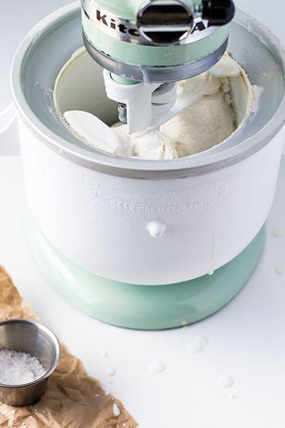 Dairy-Free Salty Honey Ice Cream Recipe made with KitchenAid® Stand on kitchen aid pasta, kitchen aid ice cream maker, kitchen aid cake,