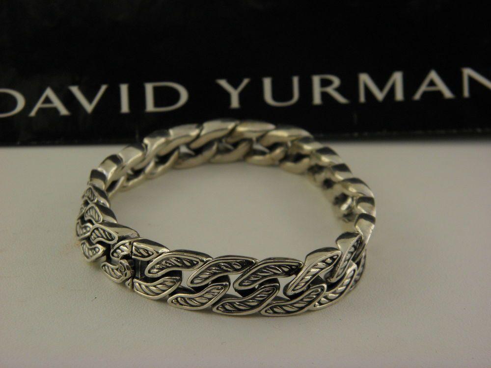 David Yurman Maritime Curb Link Bracelet 11 5mm In Sterling Silver Modern Silver Jewelry Fine Jewelry Bracelets Sterling Silver Cufflinks