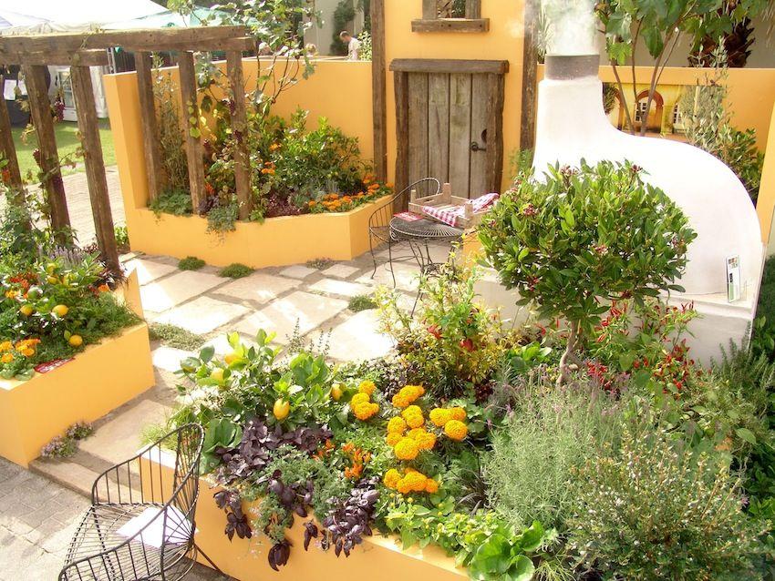 Amazing Useful Mediterranean Garden Design About Small Home Remodel Ideas With  Mediterranean Garden Design