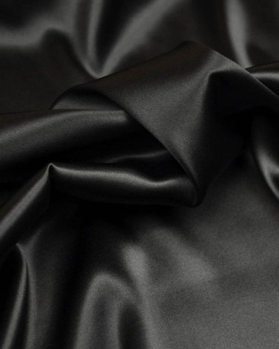 Silk Satin Fabric | Black