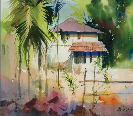 Landscapes Milind Mulick Landscapes His Art Watercolor
