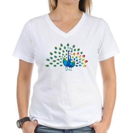 Autism peacocks Women's V-Neck T-Shirt