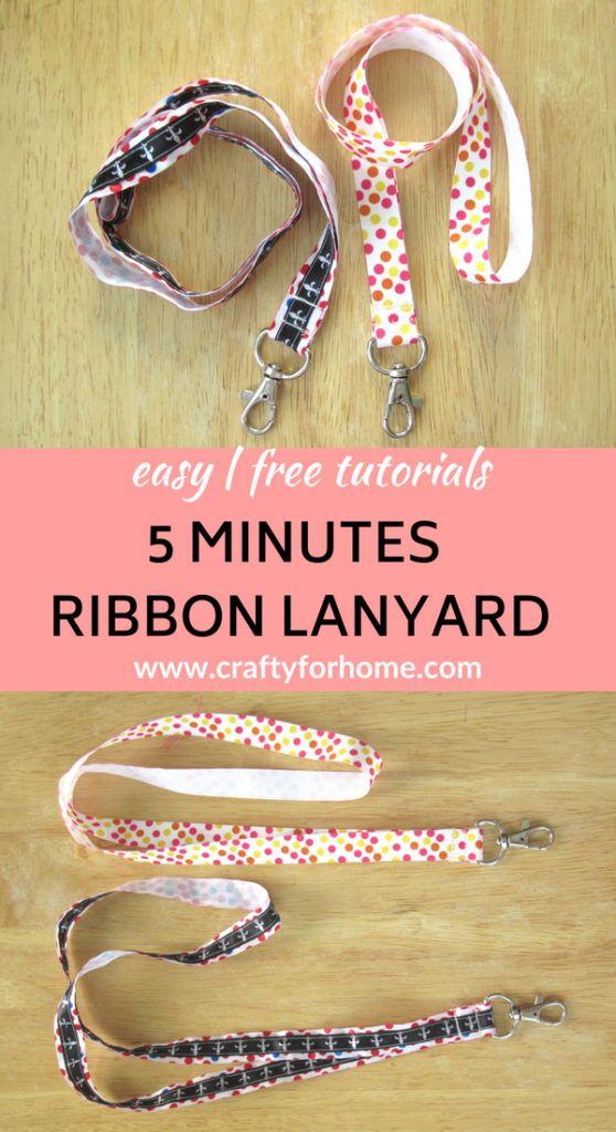 Easy Ribbon Lanyard #ribboncrafts