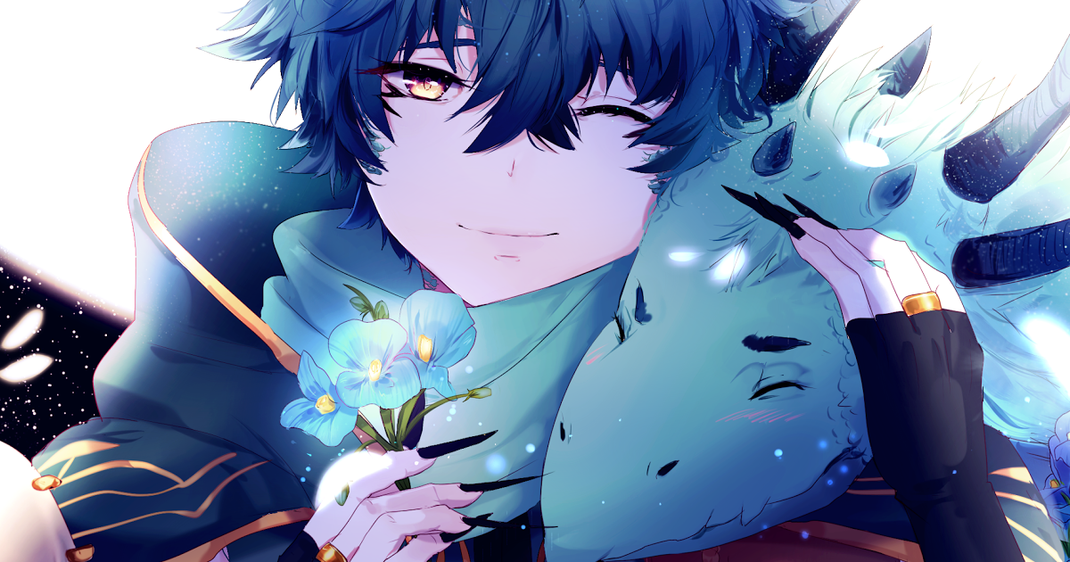 11 Anime Junge Und Madchen Tapete 4k Tapete Anime Boy Drachen Blaue Blumen 4k Anime 12984 Anime Anime Boy Anime Wallpaper Phone