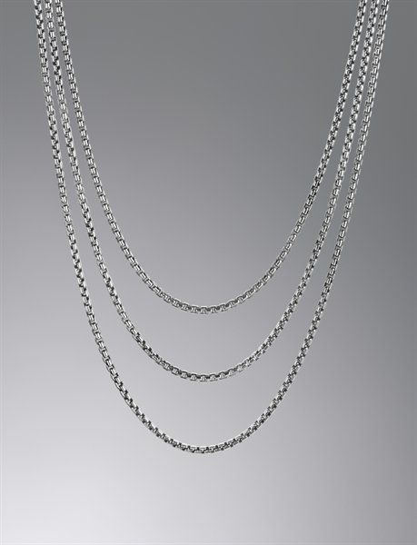 f4c729fbed554 David Yurman. Box Chain Necklace