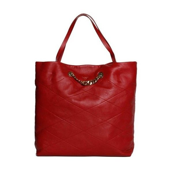 Lanvin 'Sugar Medium' Shopping Bag (17.500 ARS) ❤ liked on Polyvore featuring bags, handbags, tote bags, red, red tote, shopping tote bags, red handbags, red quilted handbag and quilted tote bag