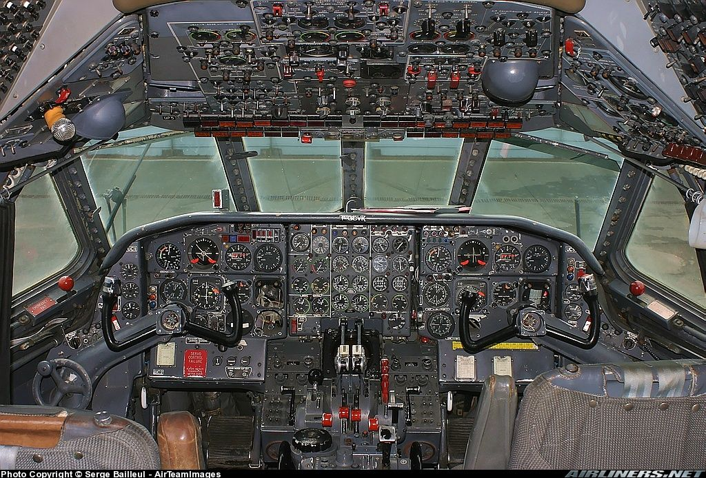 Cockpit View Of A Nice Preserved Caravelle Photo Taken At