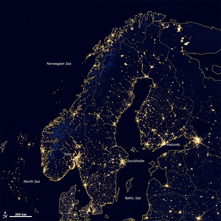Nordic lights iceland norway finland and sweden have some of earth at night nordic lights gumiabroncs Choice Image
