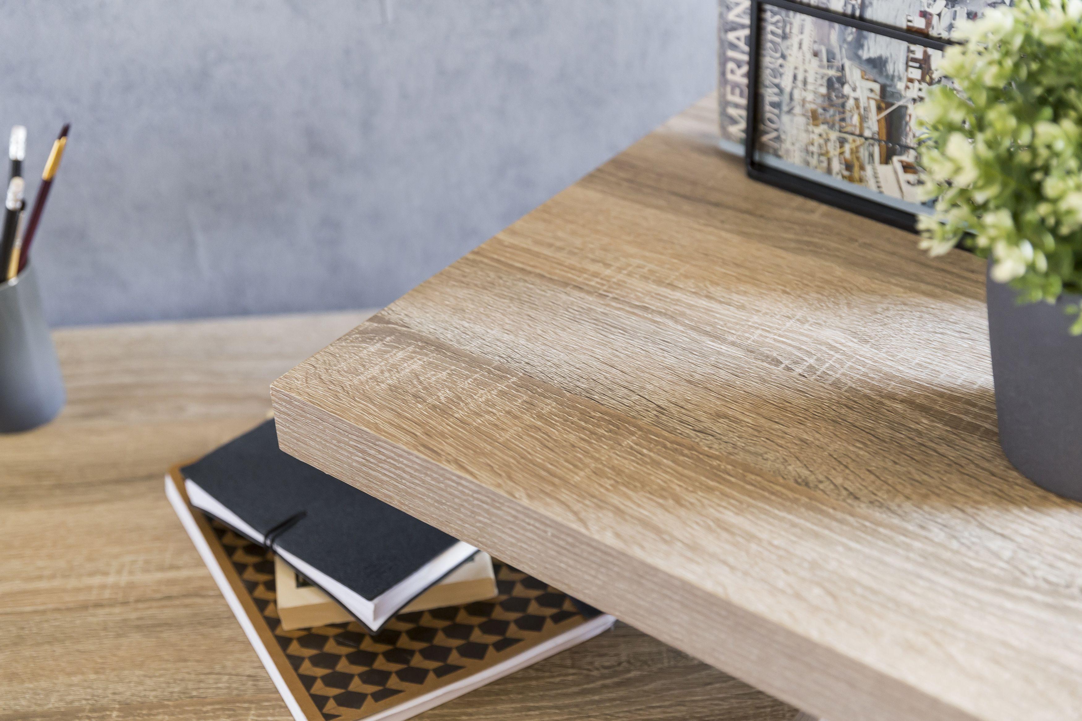 Wohnling Schreibtisch Larry Sonoma Wl5 531 Aus Mdf Und Metall Buro