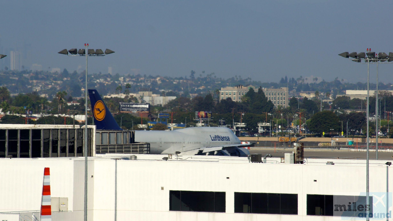Lufthansa Boeing 7478 Economy Class, Los Angeles nach