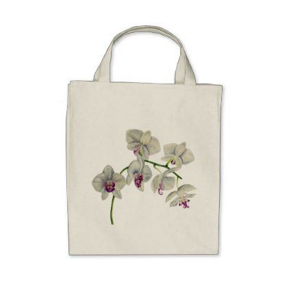 Orchid Watercolor Painting Tote Bag Zazzle Com Purple Bags