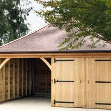 Open Timber Garages Wooden Car Ports Workshop Logstore Ascot Timber Buildings Limited Timber Garage Timber Buildings Wooden Garage