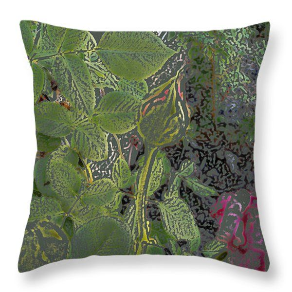 All Throw Pillows - Rose Bud Throw Pillow by Lovina Wright
