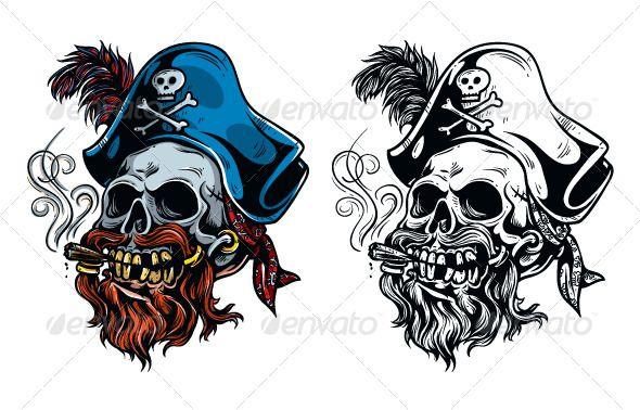Vintage Pirate Skull Tattoo Pirate Skull Tattoos Pirate Tattoo Pirate Skull Tattoo Designs