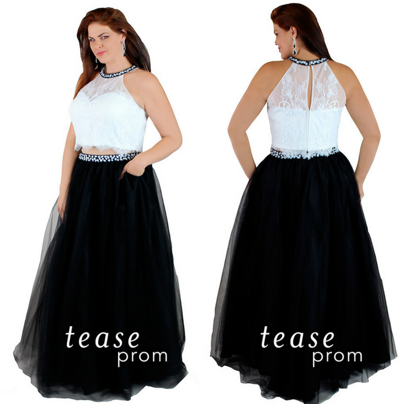 Two-piece formal dress, available in three colors!