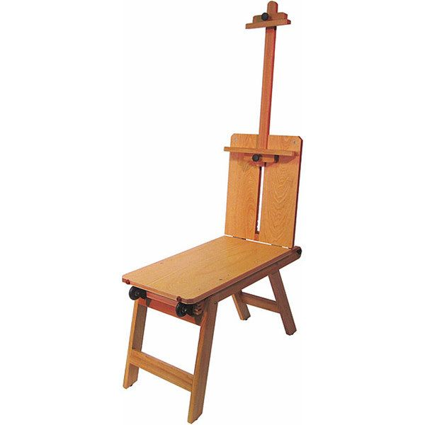 Portable Wooden Easel Painting Travel Bench Wood Artists Drawing Teacher Classroom Seat Chair