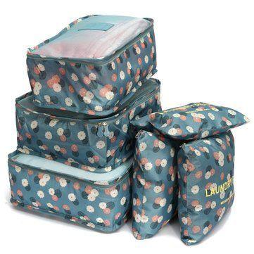Solo US $ 14.56, compre Honana HN-TB37 6Pcs Set Bolsa de almacenamiento de equipaje de viaje Maleta portátil Ropa o …