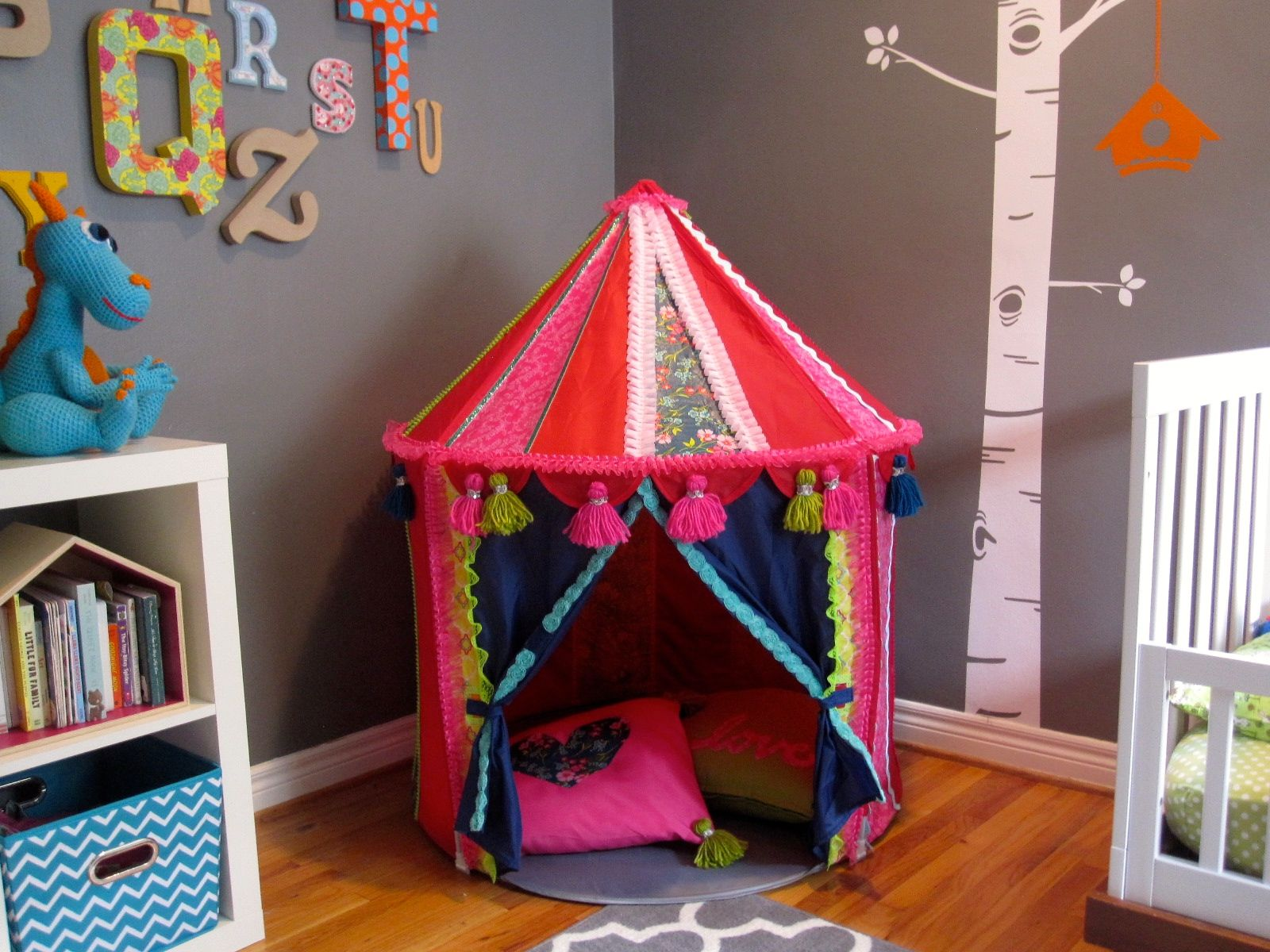 online store 6bf0a 83558 Ikea Hack! Make a Boho Play Tent from the CIRKUSTÄLT Tent ...