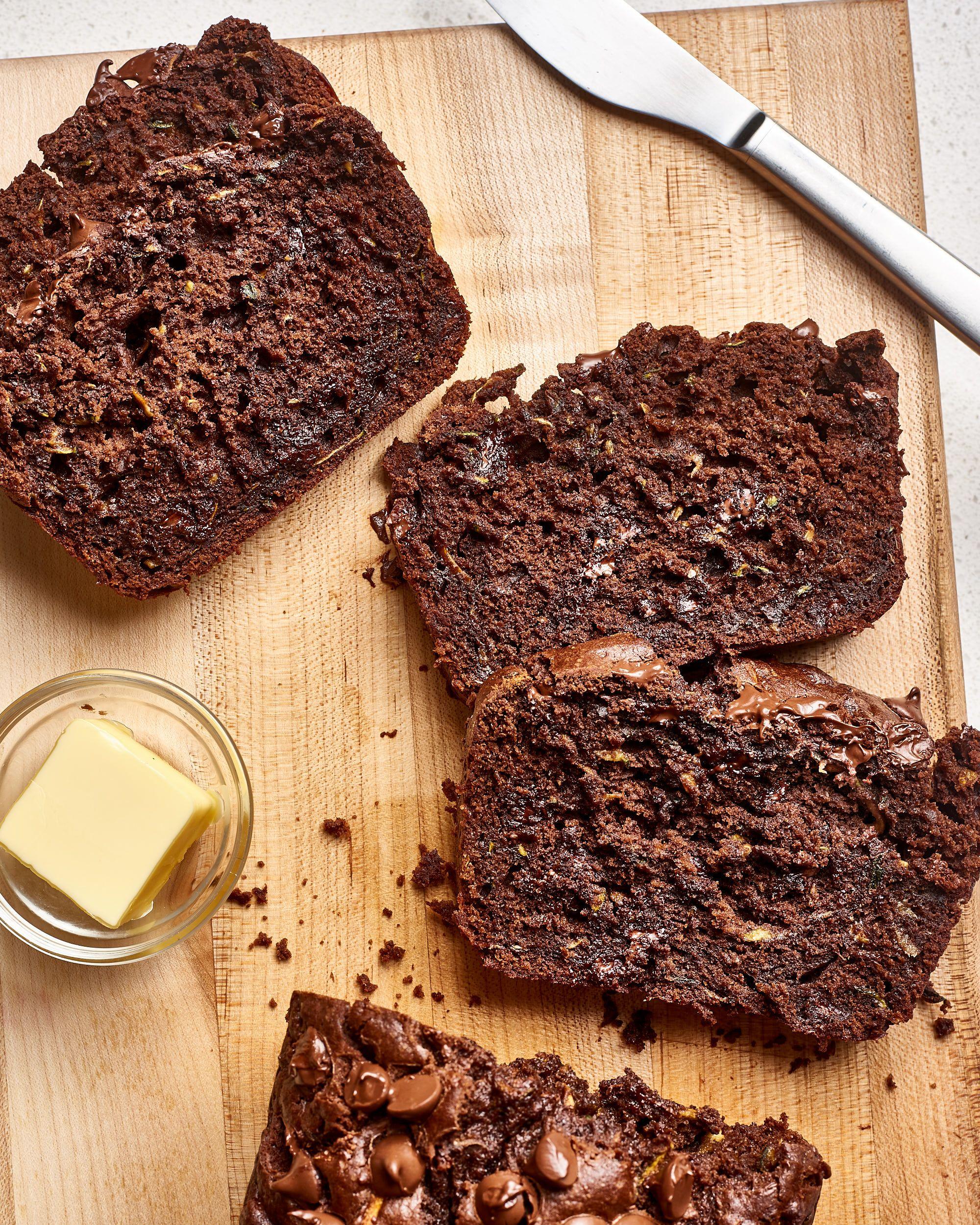 Double chocolate zucchini bread recipe chocolate