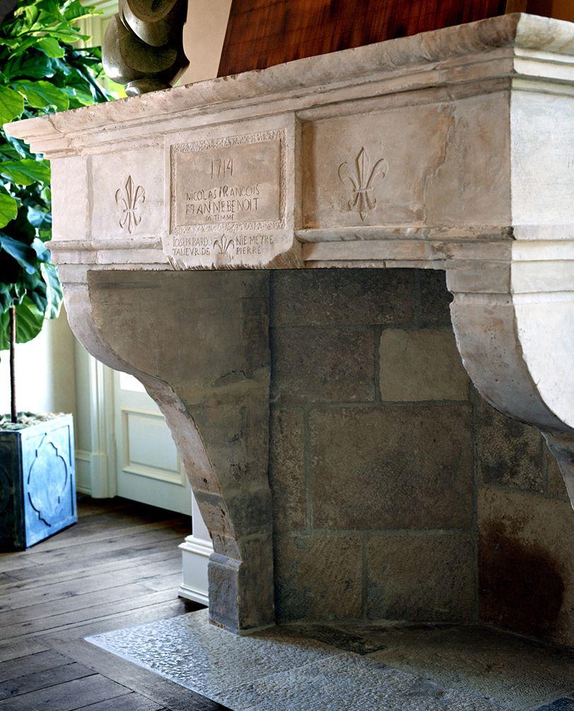 antique limestone fireplace antique fireplaces pinterest