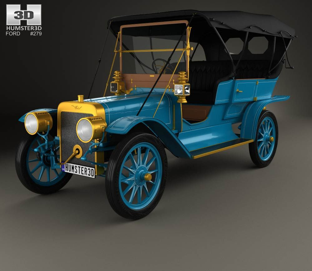 3d Model Of Ford Model K Touring 1906 Ford Models Classic Cars