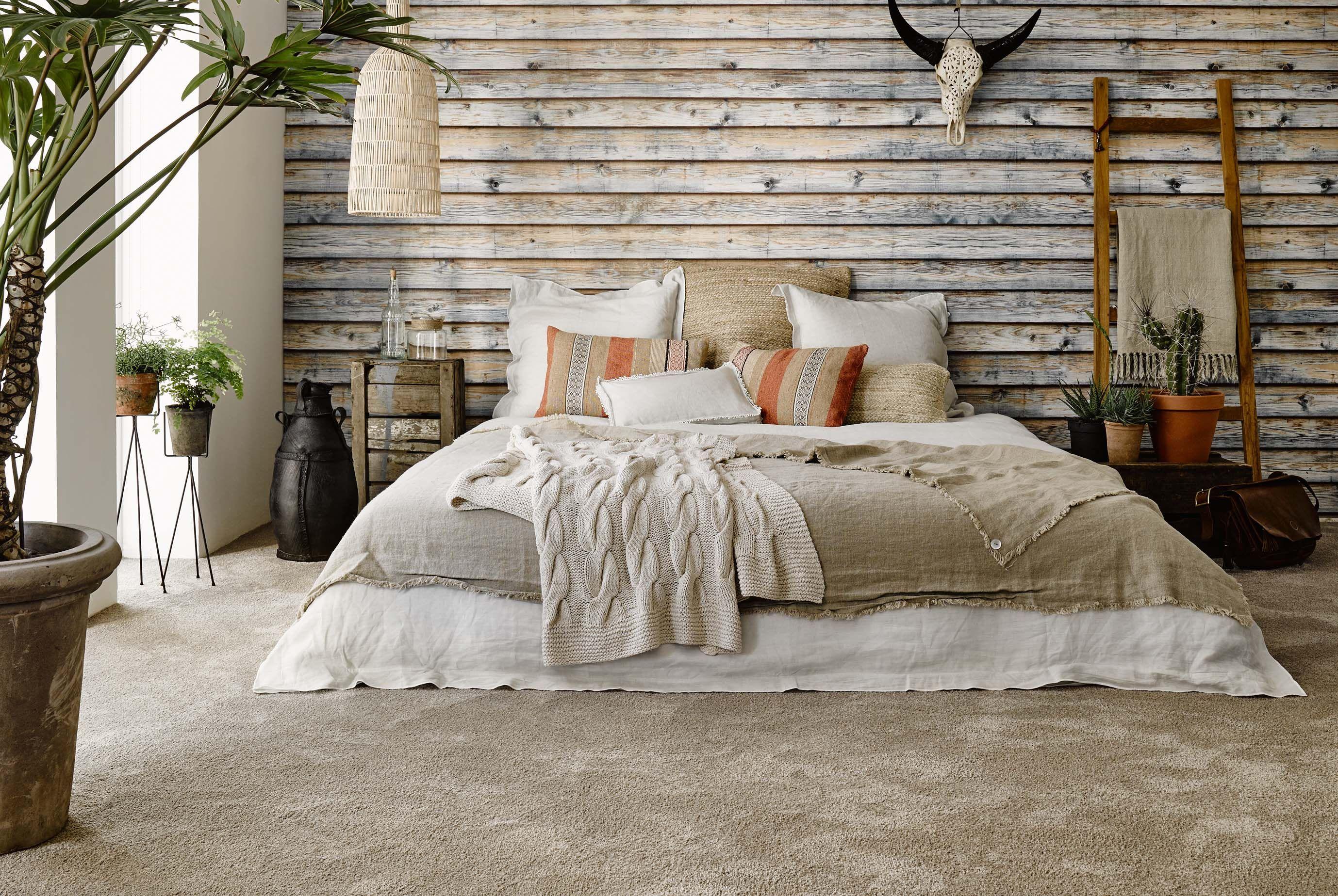 Slaapkamer vloerbedekking beige grijs slaapkamer