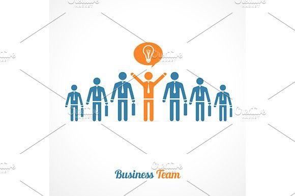 Human Symbol Teamwork. Idea Concept.. Human Icons. $5.00