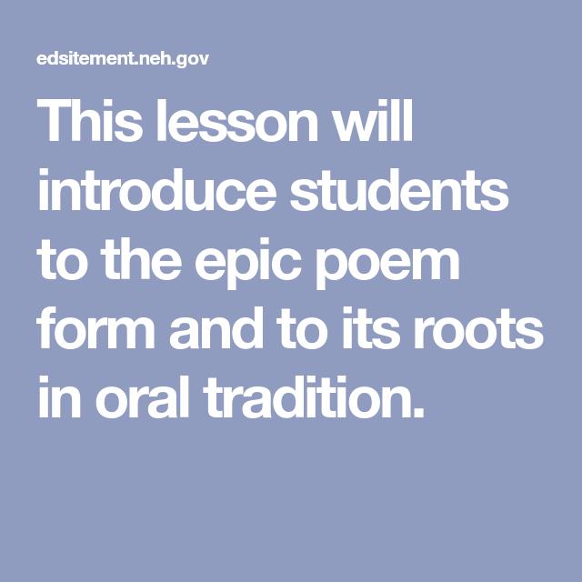 epic poem structure