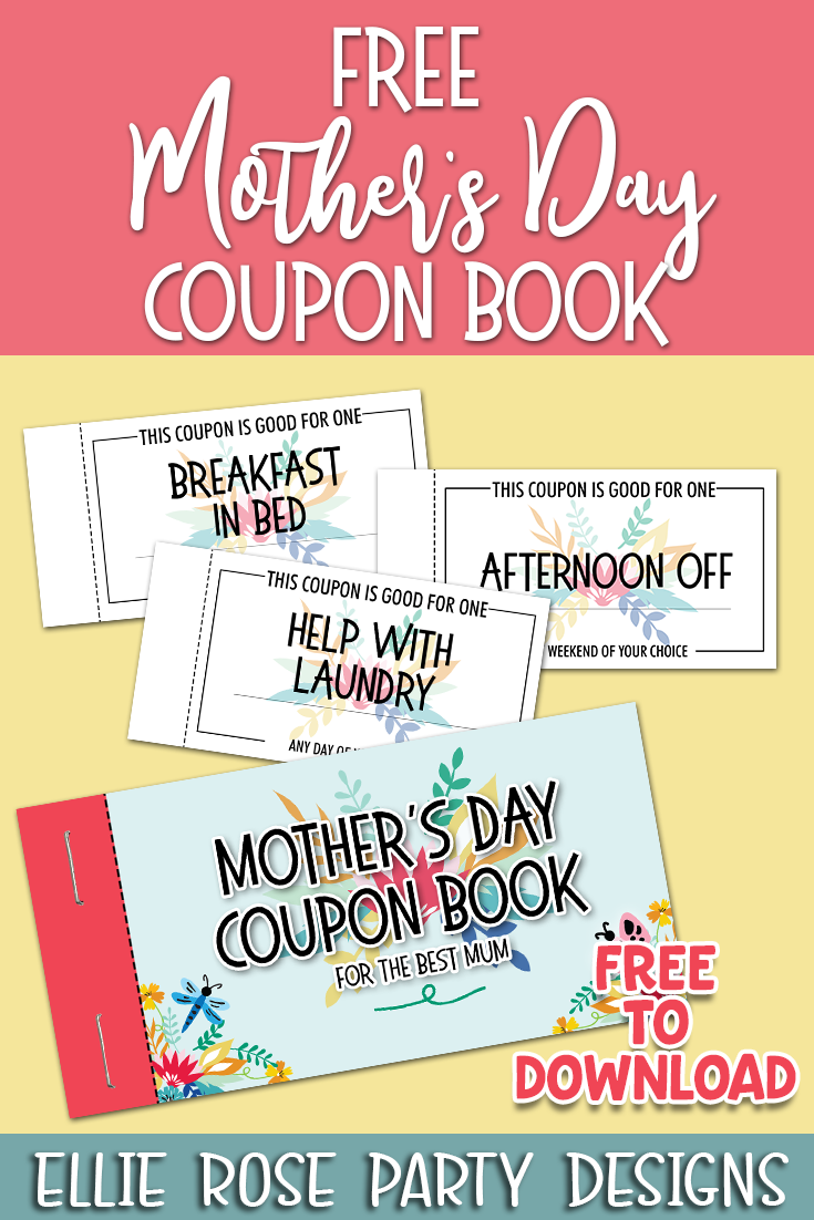 These free Mother's Day coupon booklet printables are a great gift for your mom on Mother's Day. Some of the Mother's Day coupons are already done for you, while others are blank so you can add any wording you want. Downloads your freebie by clicking through #mothersday #mothersdayfreebie #freemothersdayprintables #freemothersdayprints #freemothersdaycraftideas #mothersdaycrafts #mothersdaycouponbook