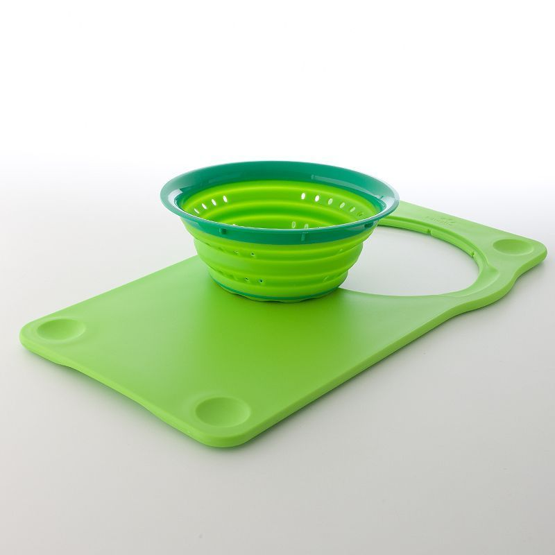 Squish Over-the-Sink Cutting Board & Collapsible Colander | Cuttings ...
