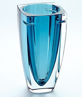 Blue Crystal Vase Crystal Glassware Glass Ceramic Crystal Vase