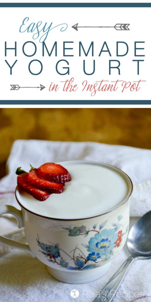 Step-by-step how to make Easy Homemade Yogurt in the Instant Pot! You'll never go back to those silly yogurt makers... RaiasRecipes.com