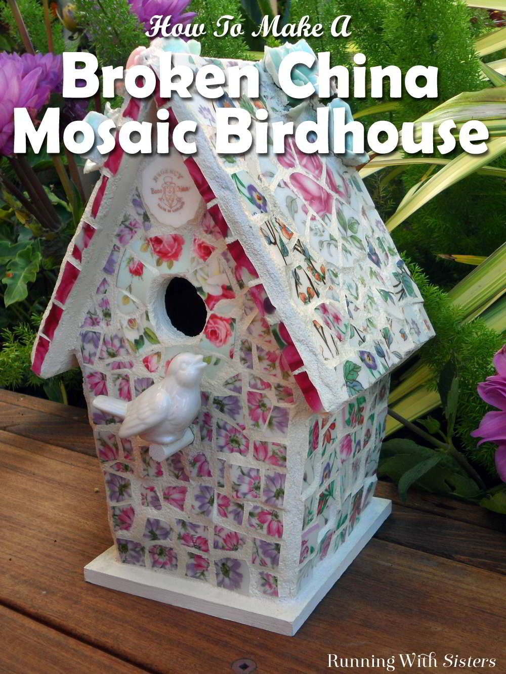 How to make a mosaic birdhouse