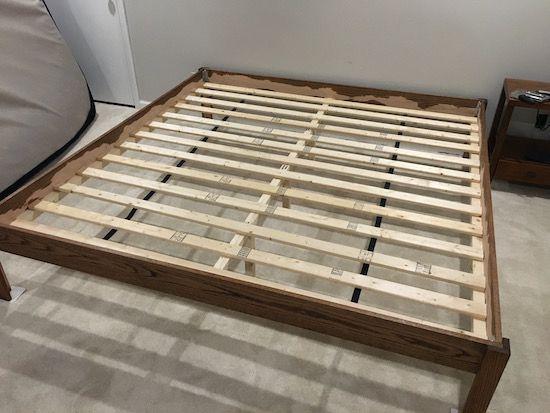 Diy Bedframe With Slats Installed Diy Bed Frame Bedroom Diy