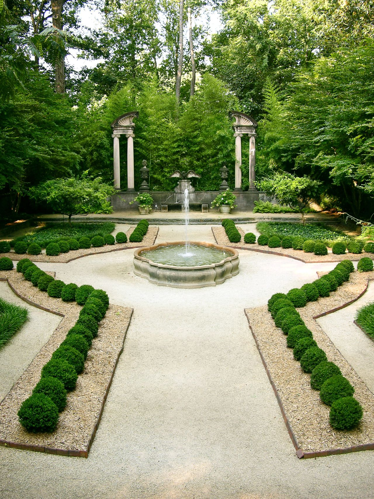Boxwood Garden At Atlanta Swan House Via Atlanta History Center