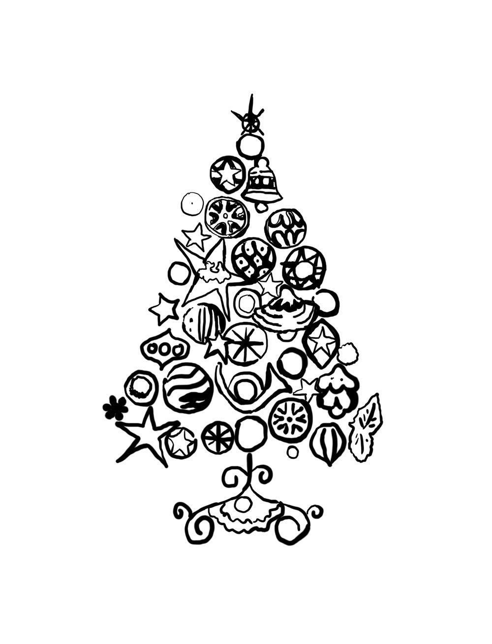 Arty colouring page - christmas tree from Andy Warhol | art ...