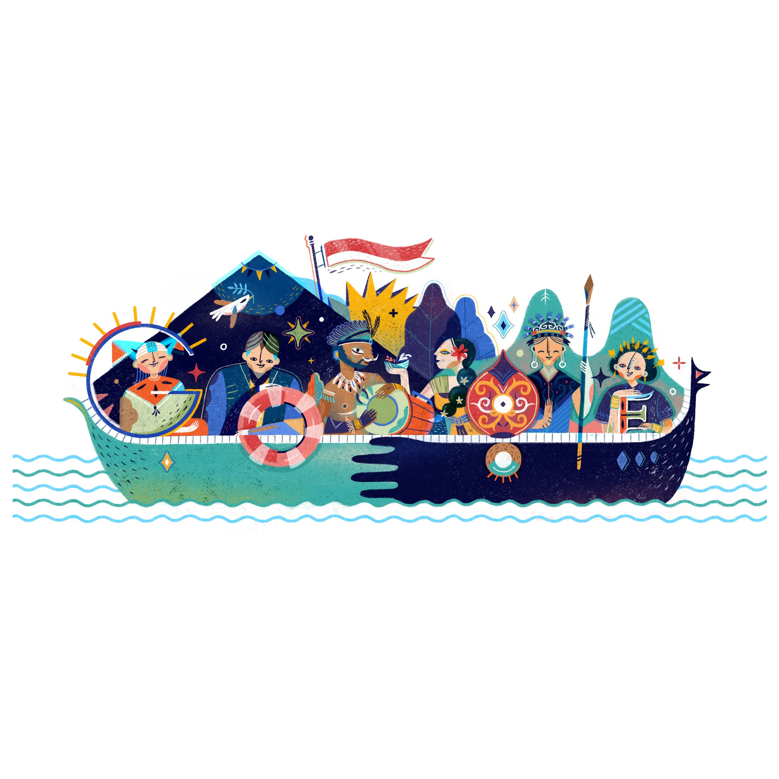 """Check out this Behance project """"Google Doodle"""
