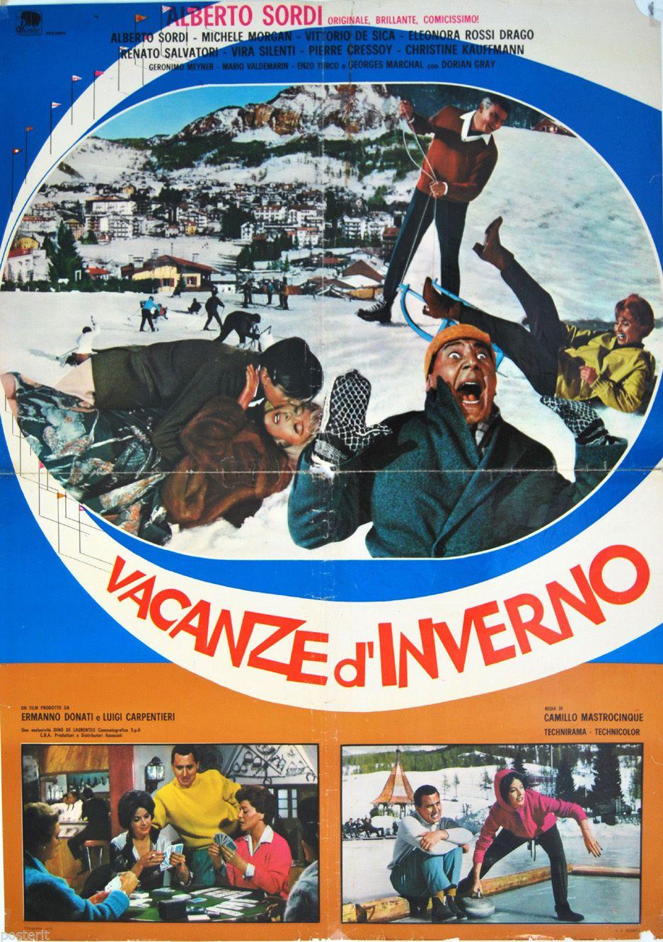 Dettagli su soggettone originale VACANZE D'INVERNO Alberto Sordi ...
