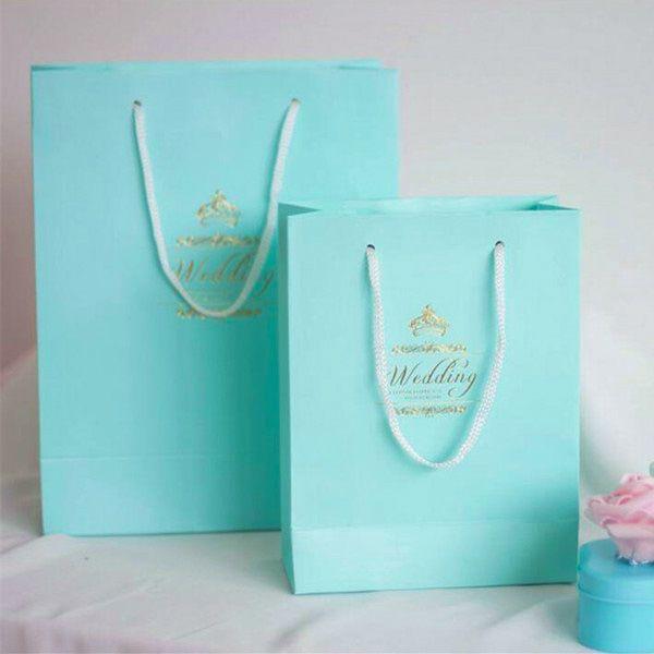 Hot Tiffany Blue Diy Gift Bags Wedding Favor Bag Ewfb005