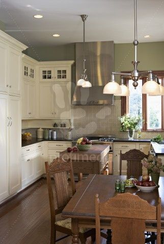 Arts And Crafts Kitchen With White Cabinets Home Decor Kitchen Kitchen Inspirations Kitchen