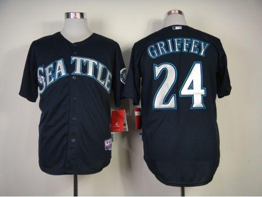 9f245173e MLB Seattle Mariners 24 Ken Griffey Jr.blue 2014 Jerseys ...
