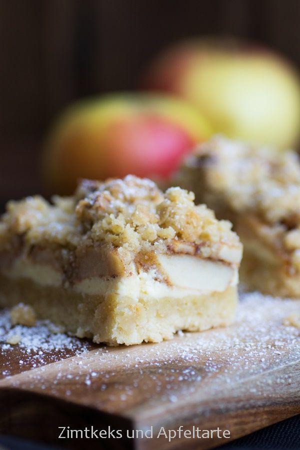 Apfel-Cheesecake mit Walnuss Streuseln - einfach und lecker #applerecipes